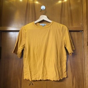GAZE YELLOW FRILL SLEEVE TOP
